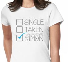 SINGLE TAKEN madly in love with SIMON Womens Fitted T-Shirt