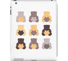 Retro abstract Teddy bear collection iPad Case/Skin