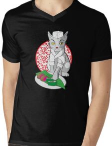 No-one but me makes the sushi (Japanese cat chef) Mens V-Neck T-Shirt