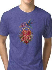 Old school True Love Lock and Key tattoo Tri-blend T-Shirt