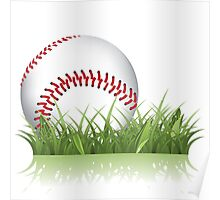 Baseball in the grass Poster