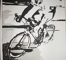 Cyclist  by Colin  Laing