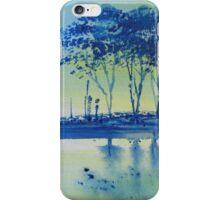Blue Water Campervan Painting iPhone Case/Skin