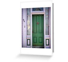 Crabby Door - Lunenburg Nova Scotia Greeting Card