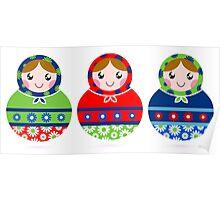 Traditional Russian dolls set - Matrioshka Poster