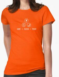 SORT FILTER PIVOT Womens Fitted T-Shirt