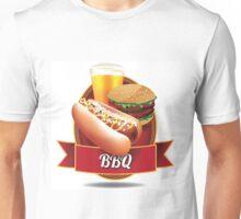 BBQ barbecue hot dog hamburger and beer Unisex T-Shirt