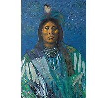 Equinox Warrior - Pop art style Native American portrait  Photographic Print
