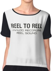 Reel To Reel Analog Recording Chiffon Top