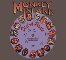 THE SECRET OF MONKEY ISLAND - DISC PASSWORD One Piece - Short Sleeve