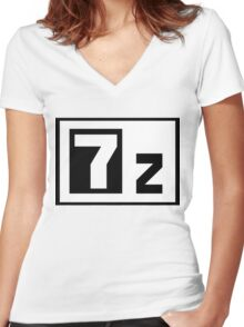 7-Zip Women's Fitted V-Neck T-Shirt