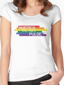 America Still Has A Pulse, Orlando Attack T-shirt Women's Fitted Scoop T-Shirt