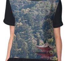 Pagoda In The Woods Chiffon Top