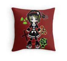 Punk Goth by Lolita Tequila Throw Pillow