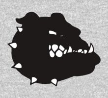 angry tough black bullgog One Piece - Long Sleeve