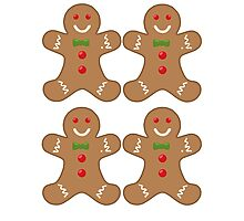 gingerbread pattern Photographic Print