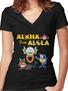 Aloha from Alola Women's Fitted V-Neck T-Shirt