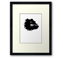 angry tough black bullgog Framed Print