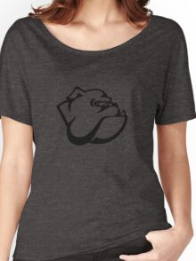 angry tough black bullgog Women's Relaxed Fit T-Shirt