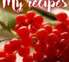 My Recipes - Xmas Mince Pie Sticker