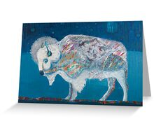 Midnight White Buffalo Greeting Card