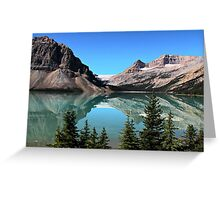 Bow Lake Reflection Greeting Card