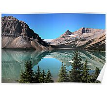 Bow Lake Reflection Poster