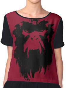 12 Monkeys - Terry Gilliam - Wall Drawing Black Chiffon Top