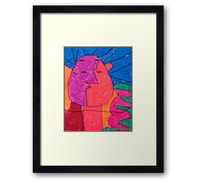 Two Faced - By Colin Framed Print