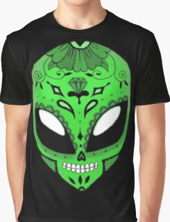 Alien Sugar Skull Comic book effect Graphic T-Shirt