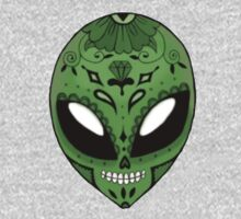 Alien Sugar Skull Comic book effect One Piece - Long Sleeve