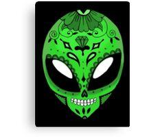 Alien Sugar Skull Comic book effect Canvas Print