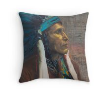 Raven Blanket - Nez Perce, Native American Chief Throw Pillow