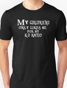 K/D Ratio, black T-Shirt