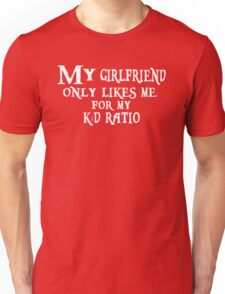 K/D Ratio, black Unisex T-Shirt