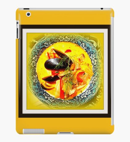 Nova Scotia Seafood Chowder Framed iPad Case/Skin