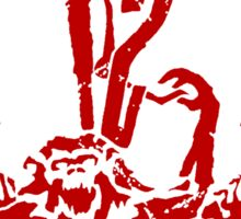 12 Monkeys - Terry Gilliam - Red on Black Sticker