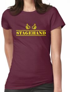 Stagehand Yellow Womens Fitted T-Shirt
