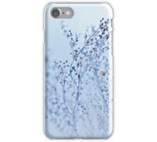 frozen abstract tree branches and plants in winter snow iPhone Case/Skin