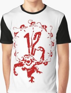 12 Monkeys - Terry Gilliam - Red on White Graphic T-Shirt