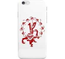 12 Monkeys - Terry Gilliam - Red on White iPhone Case/Skin