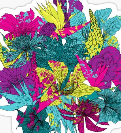 summernight / floral pattern Sticker