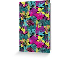 summernight / floral pattern Greeting Card
