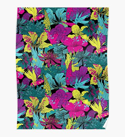 summernight / floral pattern Poster
