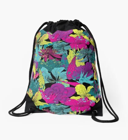 summernight / floral pattern Drawstring Bag