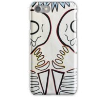 twin skeletons iPhone Case/Skin