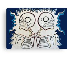 twin skeletons Canvas Print