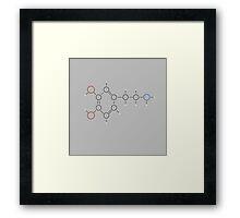 Dopamine Molecule Framed Print