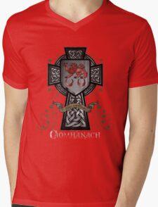 Caomhánach Celtic Cross Mens V-Neck T-Shirt