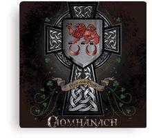 Caomhánach Celtic Cross Canvas Print